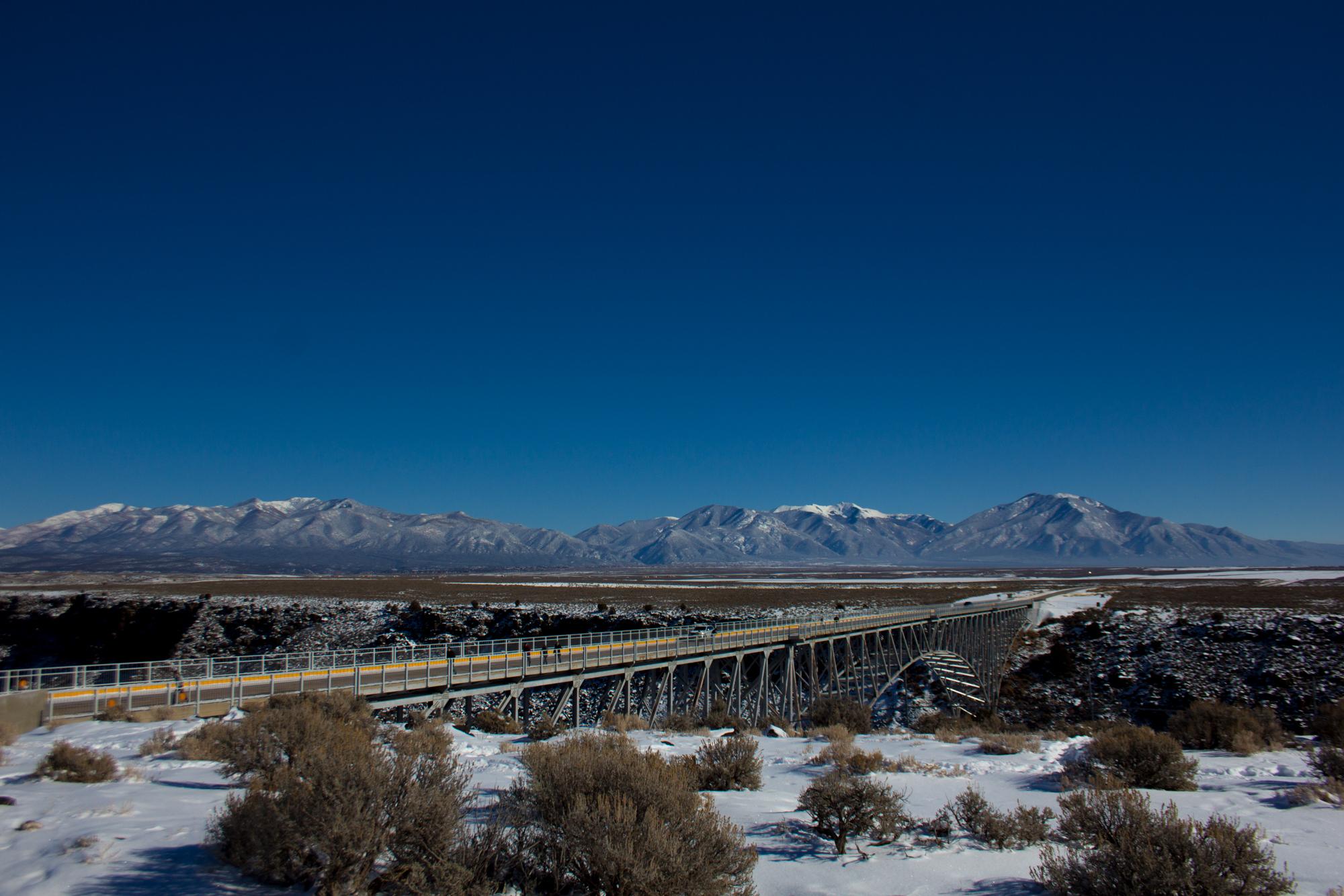 Taos, Bridge, New Mexico, Mountains