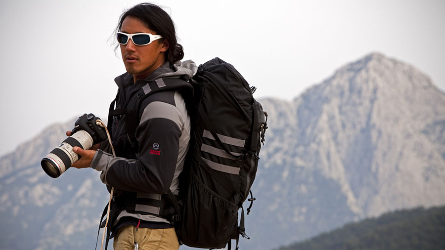 Jimmy Chin on one of his many adventures